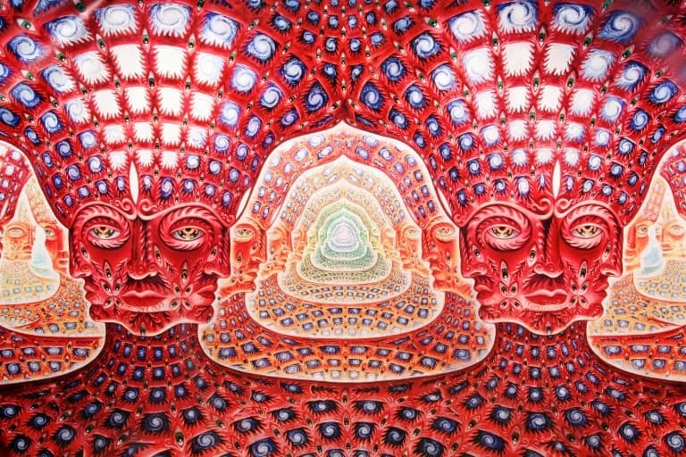 Psychedelic Spirit Paintings Alex Grey Art Gallery: Entities From The DMT Experience