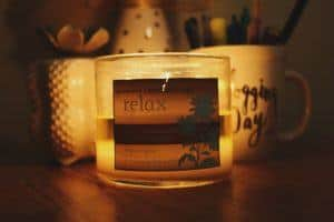 aromatherapy relaxing candle