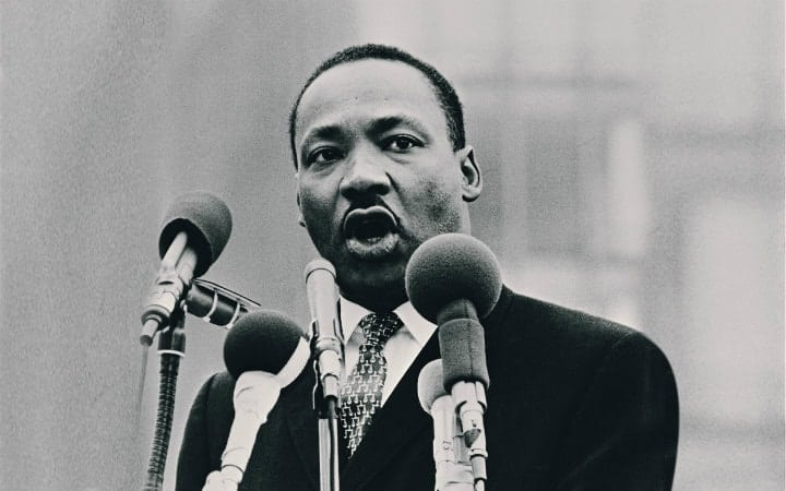 martin luther king during speech