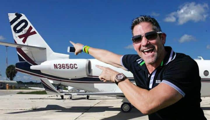 grant cardone with his plane