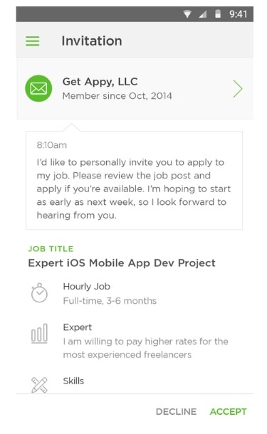 upwork screenshot