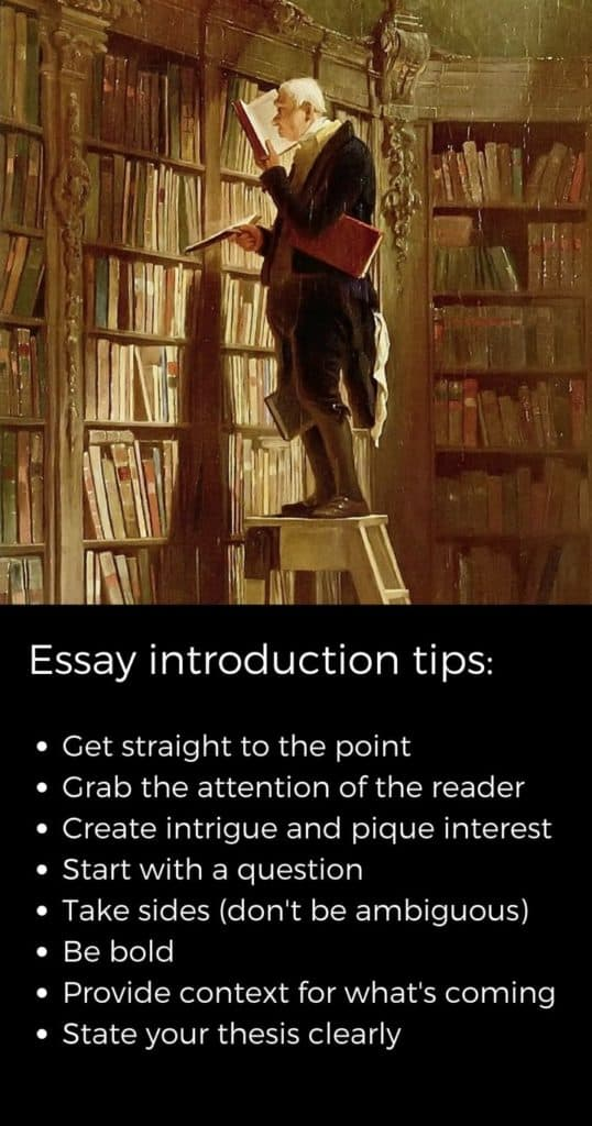 painting with tips about writing essay introductions