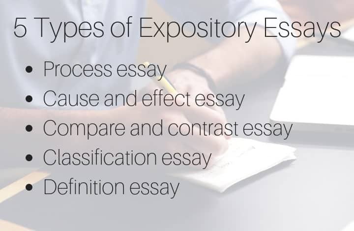 5 Types of Expository Essays