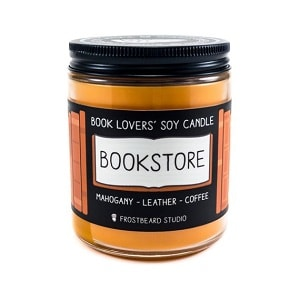 book lover soy candle