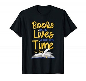 book lover t-shirt quote