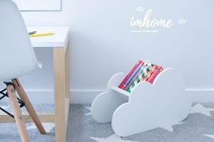 cloud book caddy for kids