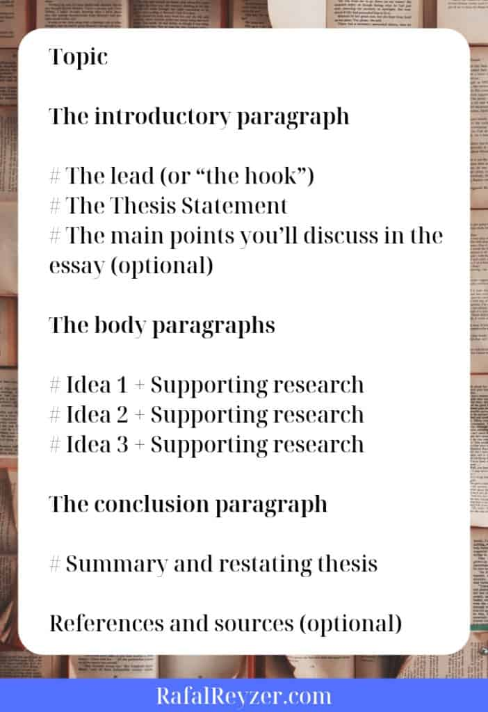 informative essay outline example graphic