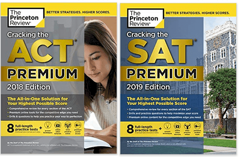 princeton review act and sat books