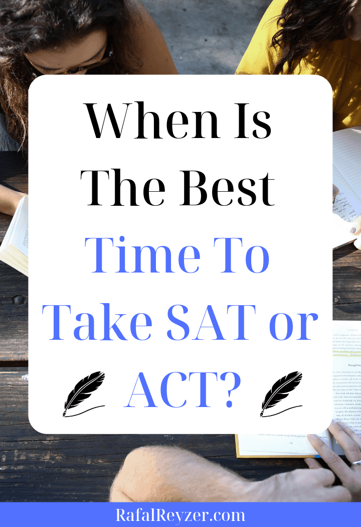 when to take sat or act pinnable graphic