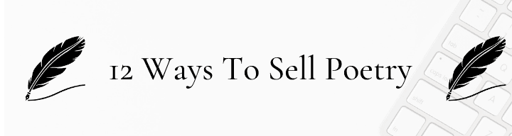 12 ways to sell poetry