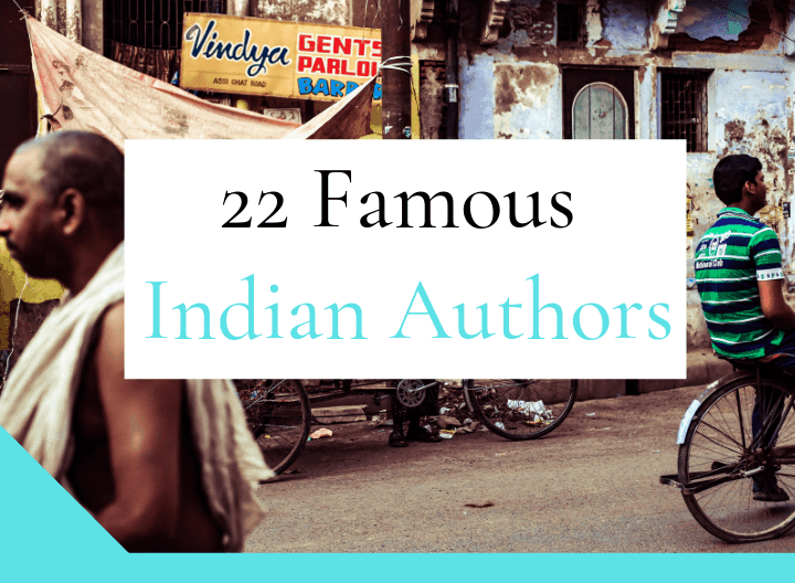 22 famous indian authors - featured graphic