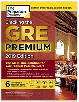cracking the gre book cover