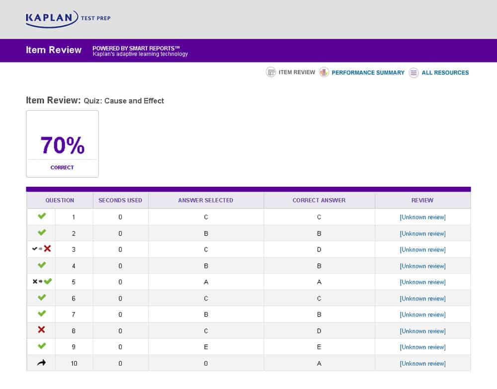 kaplan act course screenshot