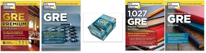 princeton review gre books collection
