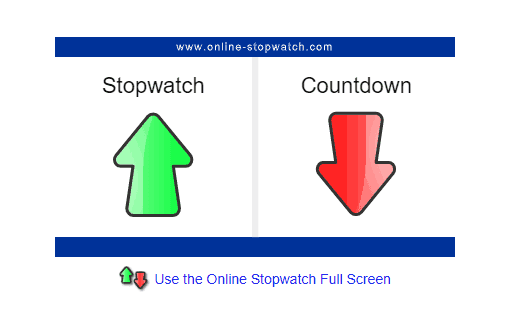 online stopwatch screenshot