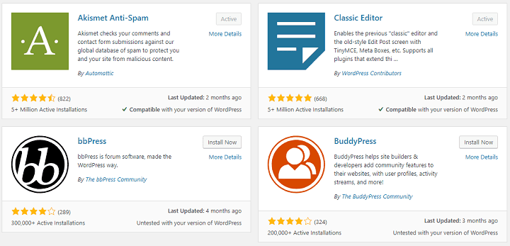 wordpress plugins screenshots