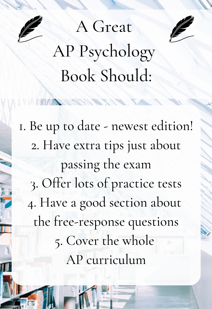 the qualities of a great ap psychology textbook - infographic