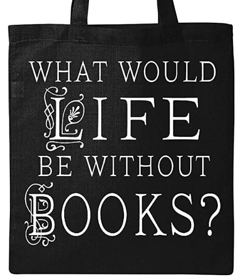 book lover tote bag with a quote