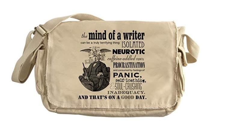 the mind of a writer quote messenger bag