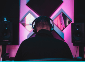 person in a studio with large headphones - featured image
