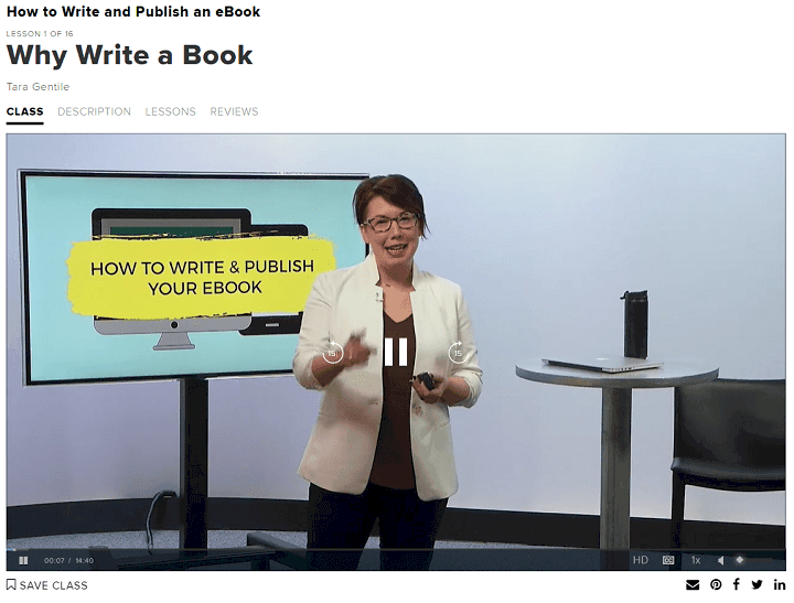 why write a book online course screenshot