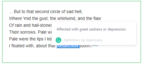 grammarly word definitions