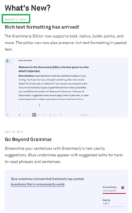 new grammarly features