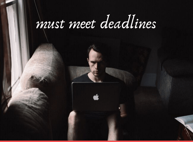 must meet deadlines editor - featured image