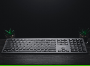 compact keyboard with a number pad - featured image