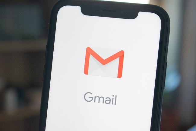 gmail on a smartphone