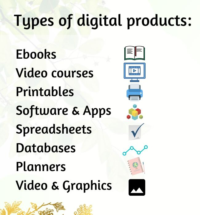 types of digital products