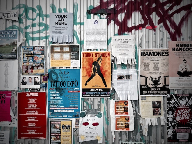 Advertisement On The Wall New York