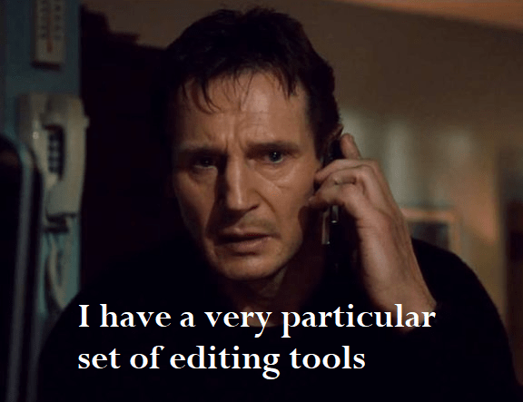 I have a very particular set of editing tools - meme-min