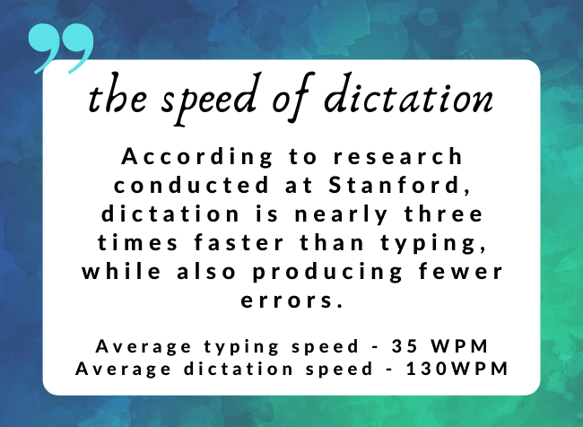 dictation vs typing speed comparison