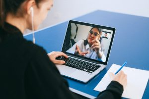 online interview of virtual assistant applicant